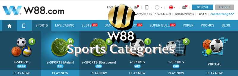 Massive Library of W88 Online Sports Options