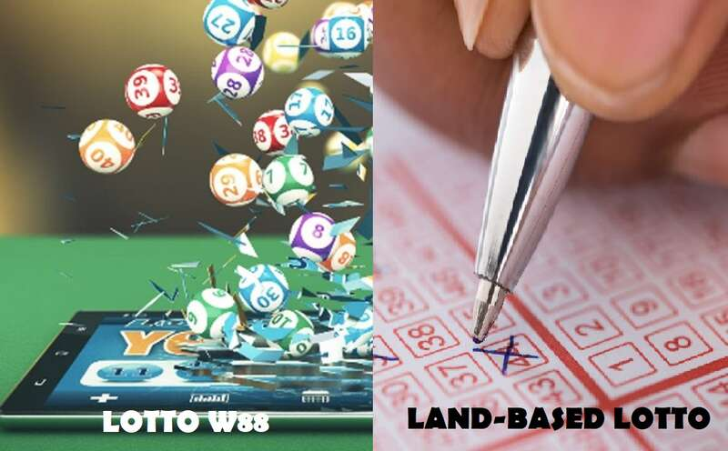 Land-Based Lotto Versus Lottery W88